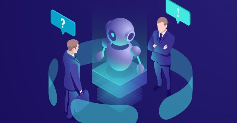 Chat bot system with businessmen