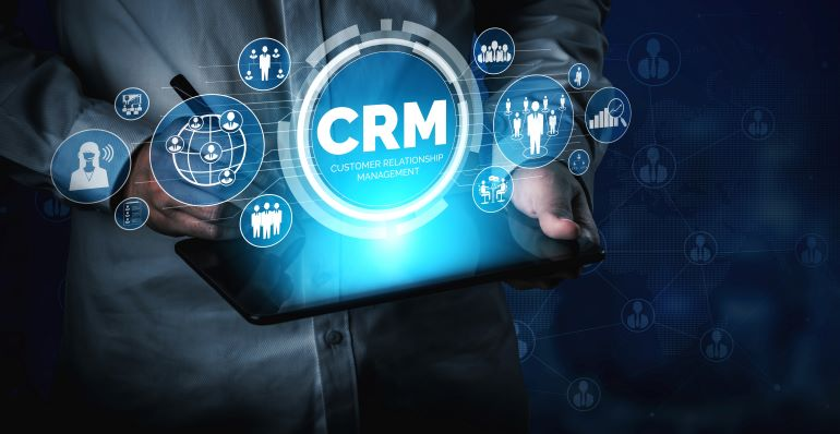 CRM hologram with various features.
