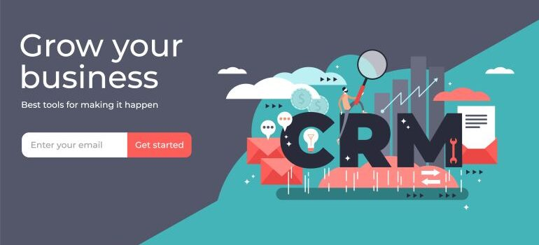 CRM sign up page
