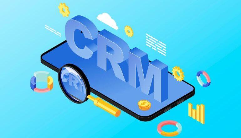 CRM illustration on a phone