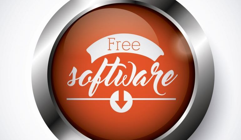 FREE software on red button