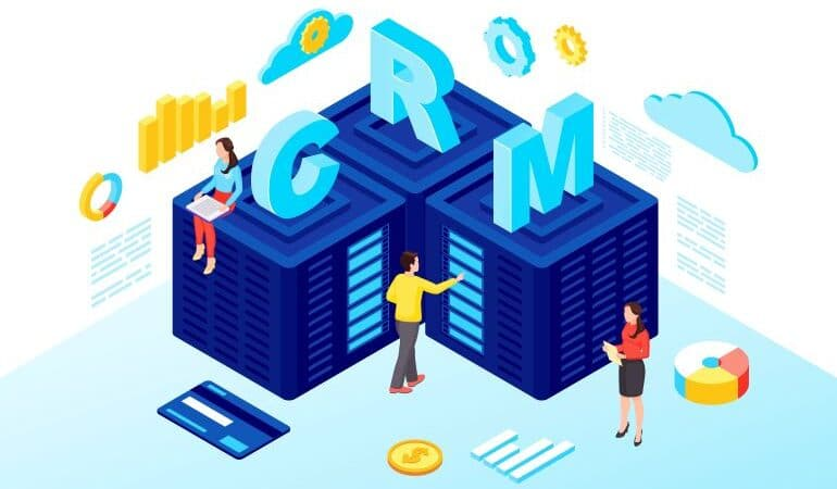 CRM servers vector illustration