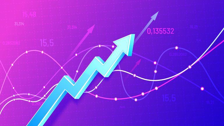 Graph arrow going through different metrics.