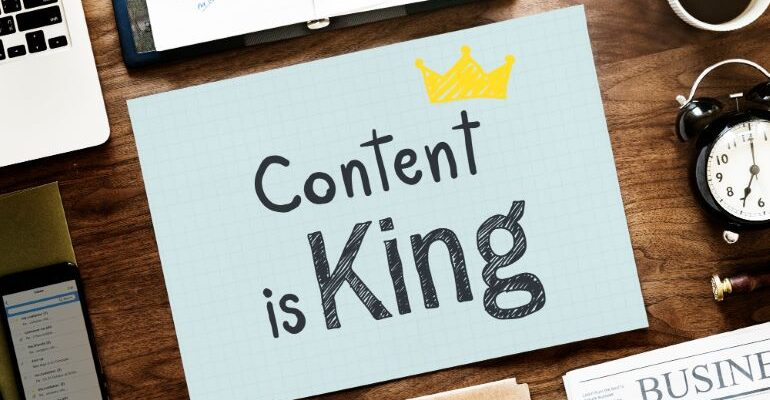 Content is King on a piece of paper
