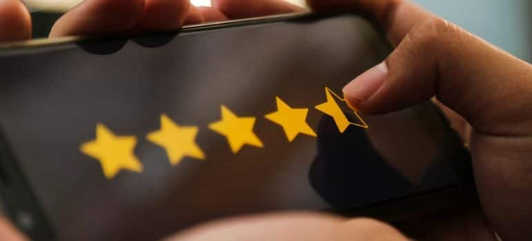 Star rating touch screen.