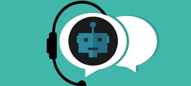 A visual representation of a chatbot.