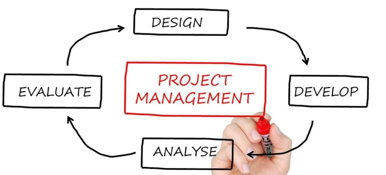 A person outlining different aspects of project management.