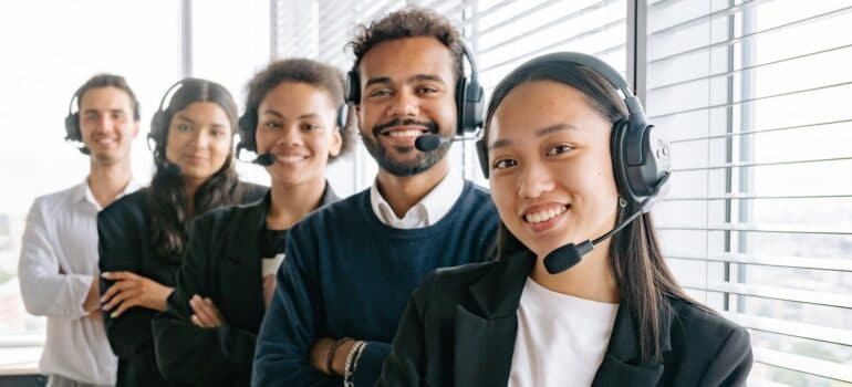 Customer service agents, indicating that helping them is one way of increasing your customer base with CRM.